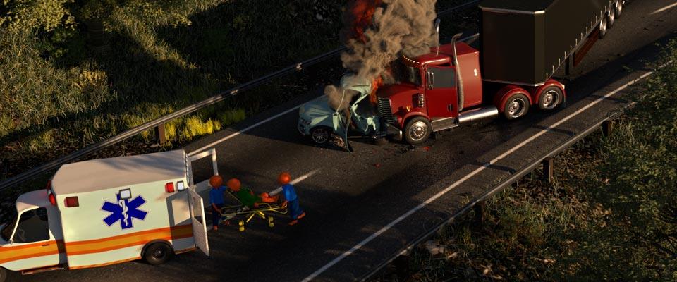 Truck accident banner